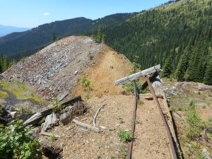 V.MRL, Margaux Resources, Sheep Creek rock dump