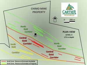 V.ECR, Cartier Resources, gold, Quebec