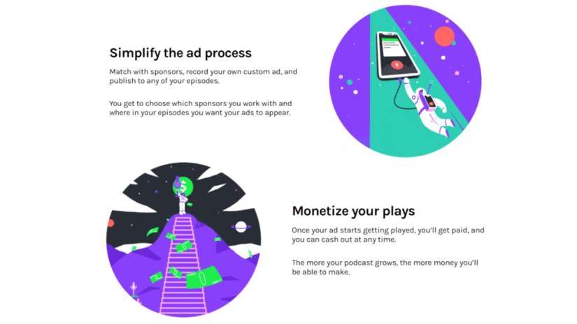 Teens can make money online using sponsored ads as described in this graphic from the Anchor website