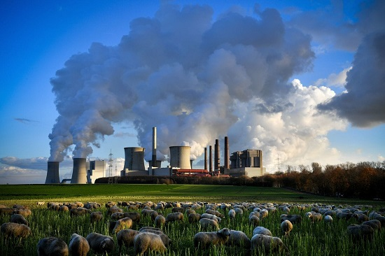 Brown Coal-fired Power Plant Bergheim Germany