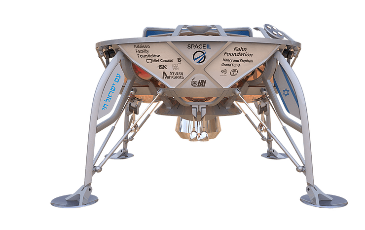 4-legged lander with names of foundations on it.