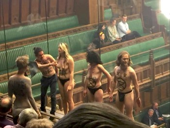 topless uk climate protesters