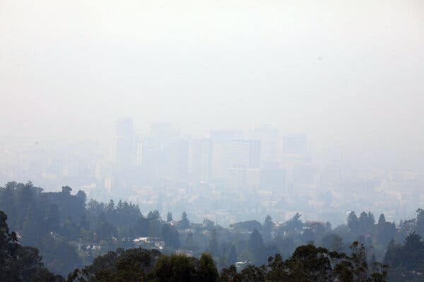 Haze over Oakland, Calif., last month.