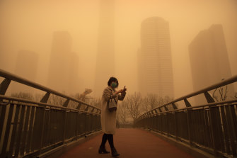 Air pollution has long caused health problems in Beijing, which was also hit by a sandstorm in early 2021.