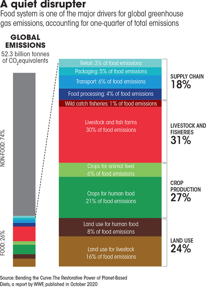 Source: Bending the Curve: The Restorative Power of Planet-Based Diets, a report by WWF, published in October 2020