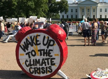 climate protest wake up