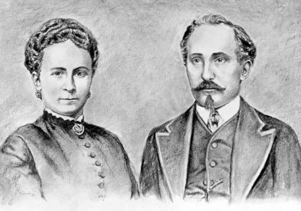 Adam und Sophie Opel 1868