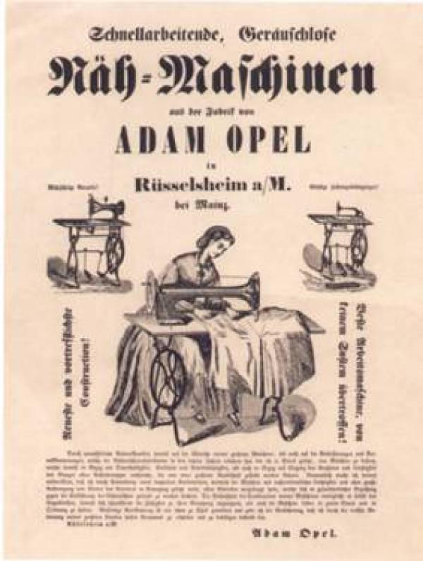 Nähmaschine Adam Opel