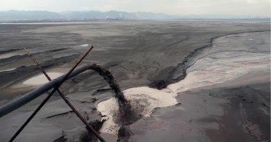 einpumpen von Schlacke in Baotou