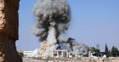 Explosion Baaltempel Palmyra
