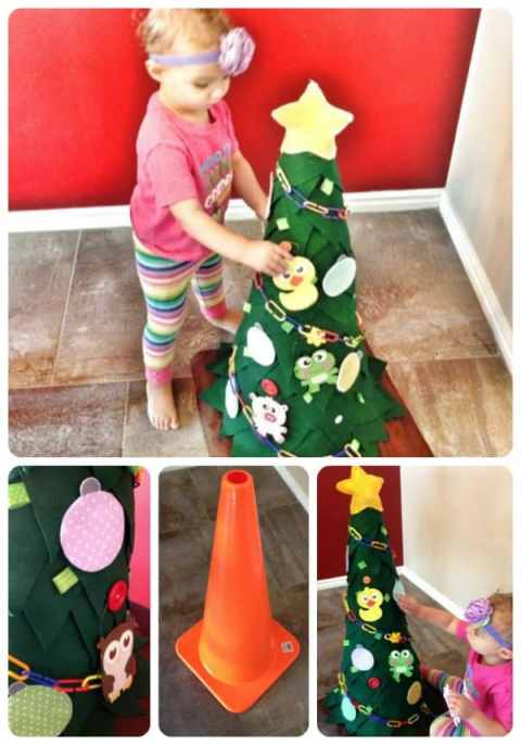 toddler tree Christmas tradition