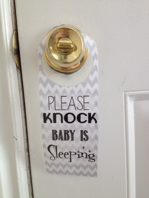 Please Knock Baby Is Sleeping Free Printable Mothers Niche