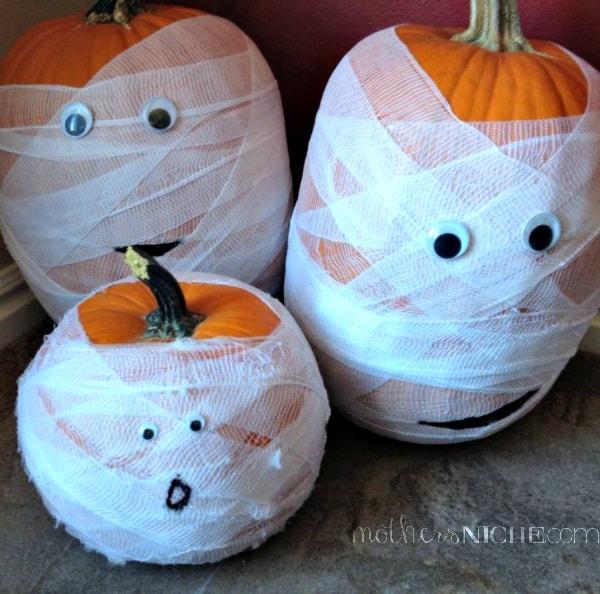 mummy pumpkins