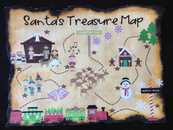 Santa S Treasure Hunt Printable Christmas Treasure Map