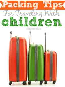 packing tips for traveling with children