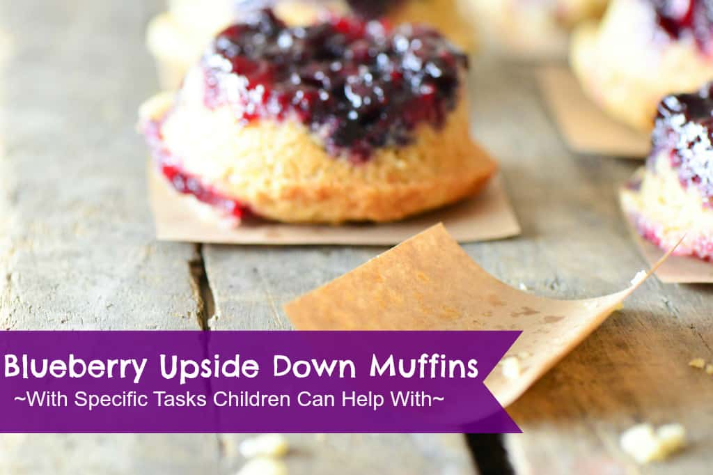 What a fun blueberry muffin recipe! I love how this blogger outlines tasks specifically for young kids to help with.