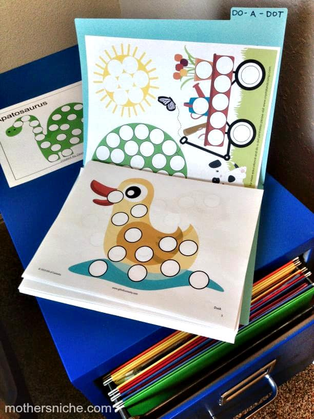 free printable do a dot worksheets