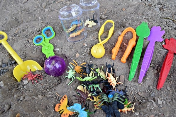 Plastic Bugs Sensory Activities