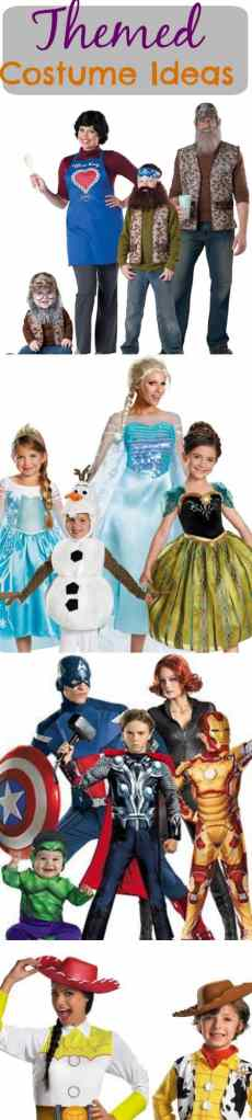 Our family likes to do themed Halloween costumes every year. Here are some halloween costume ideas for groups or family