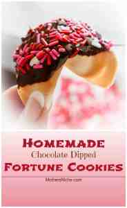Homemade Fortune Cookies Dipped in Chocolate