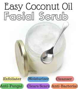 Coconut Oil Facial Scrub Recipe
