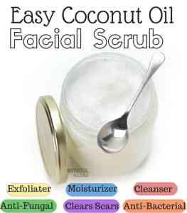 Coconut Oil Facial Scrub Recipe