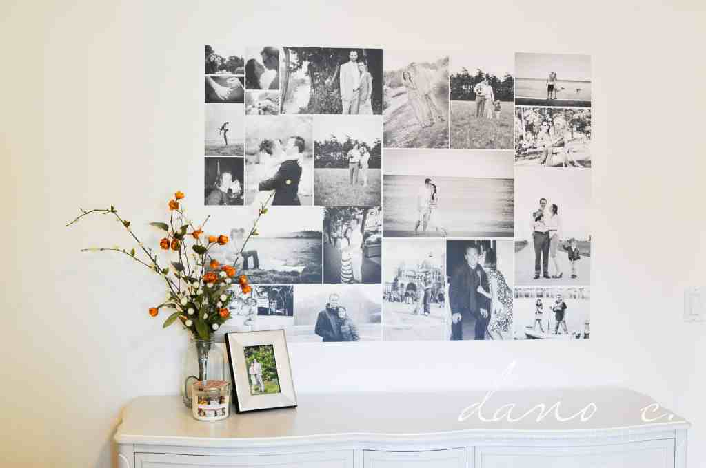 Removable Wall Adhesive To Turn A Photo Collage Into A Removable Wall Adhesive