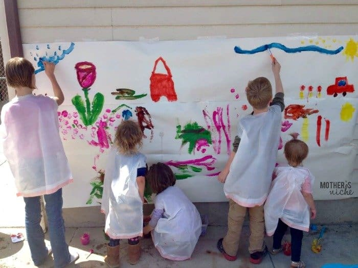 Really Awesome Summer Activities: Paint Your Own Wall Mural