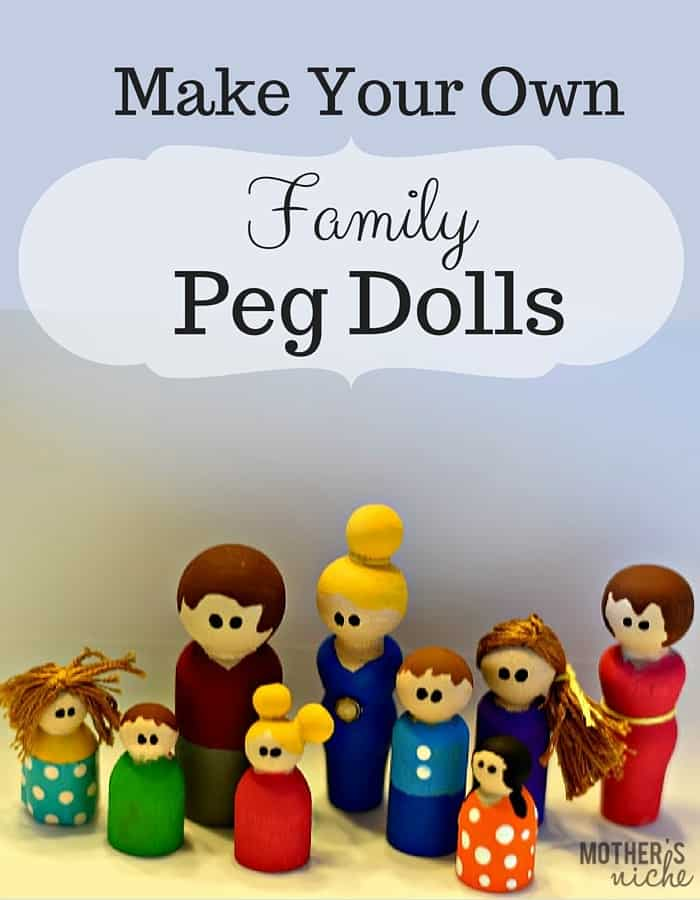 How to make your own peg dolls. They are so easy and make such a fun stocking stuffer, gift, or toy for dollhouses,