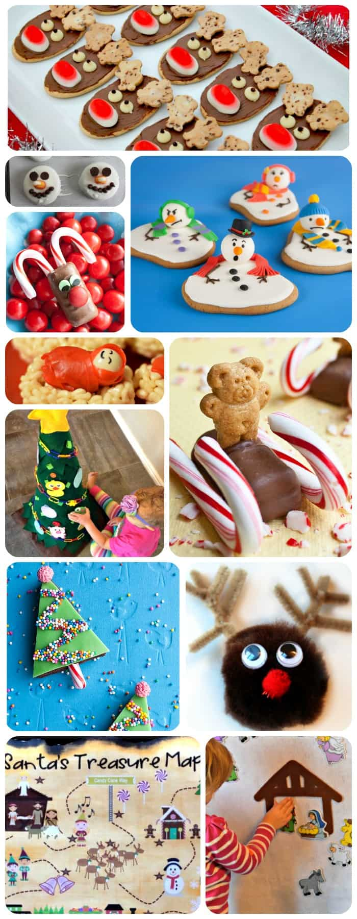 TONS of ideas for the KIDS this holiday season! Fun Christmas crafts and treats!