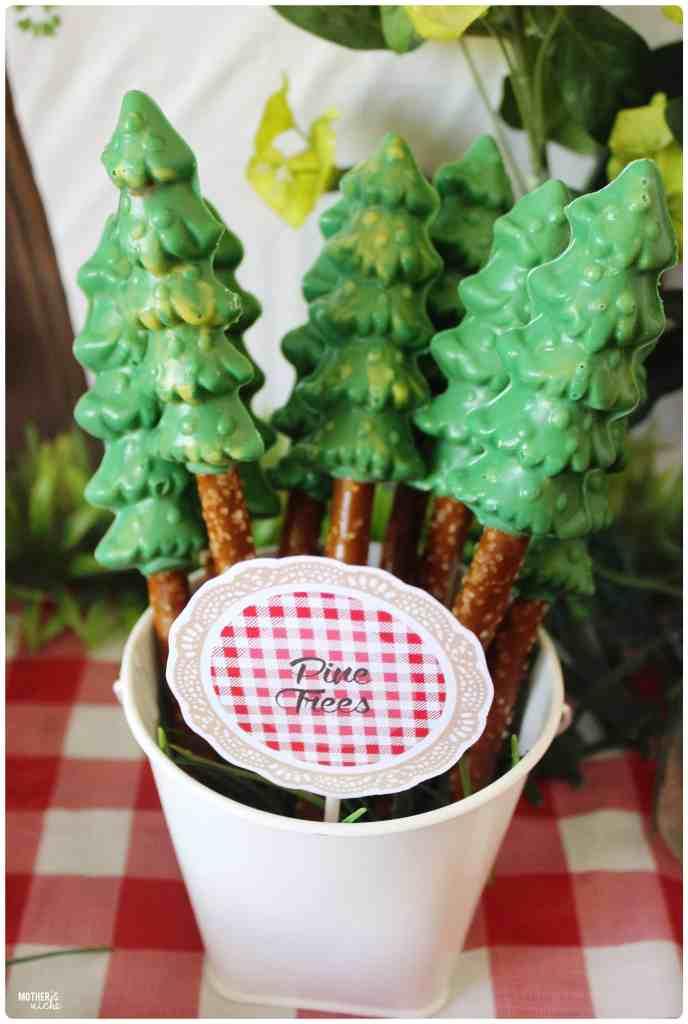 Pine Tree Pretzel/Chocolate Snacks