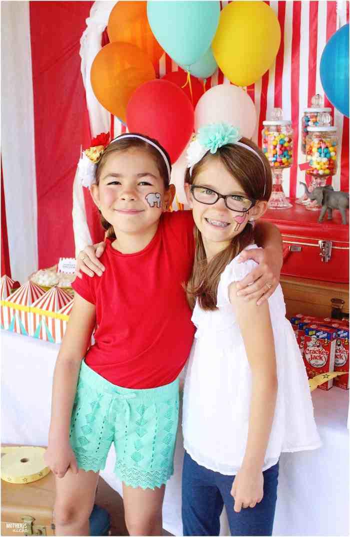 Circus Birthday Girls