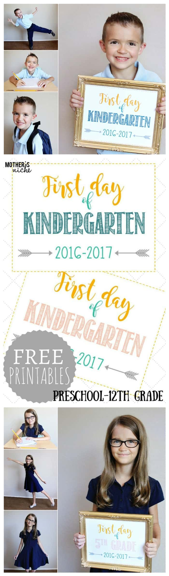Free Back to School Signs for back to school pictures! Multiple designs