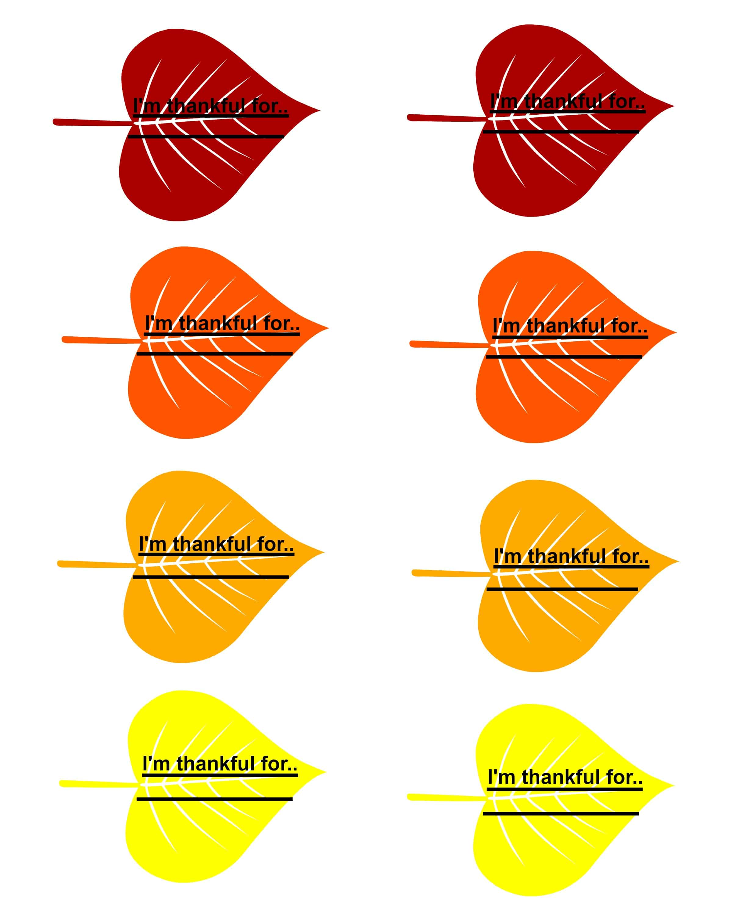 family thankful tree with free printable leaves
