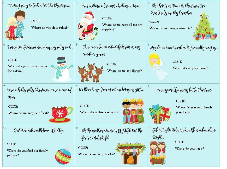 christmas-treasure-map-clues