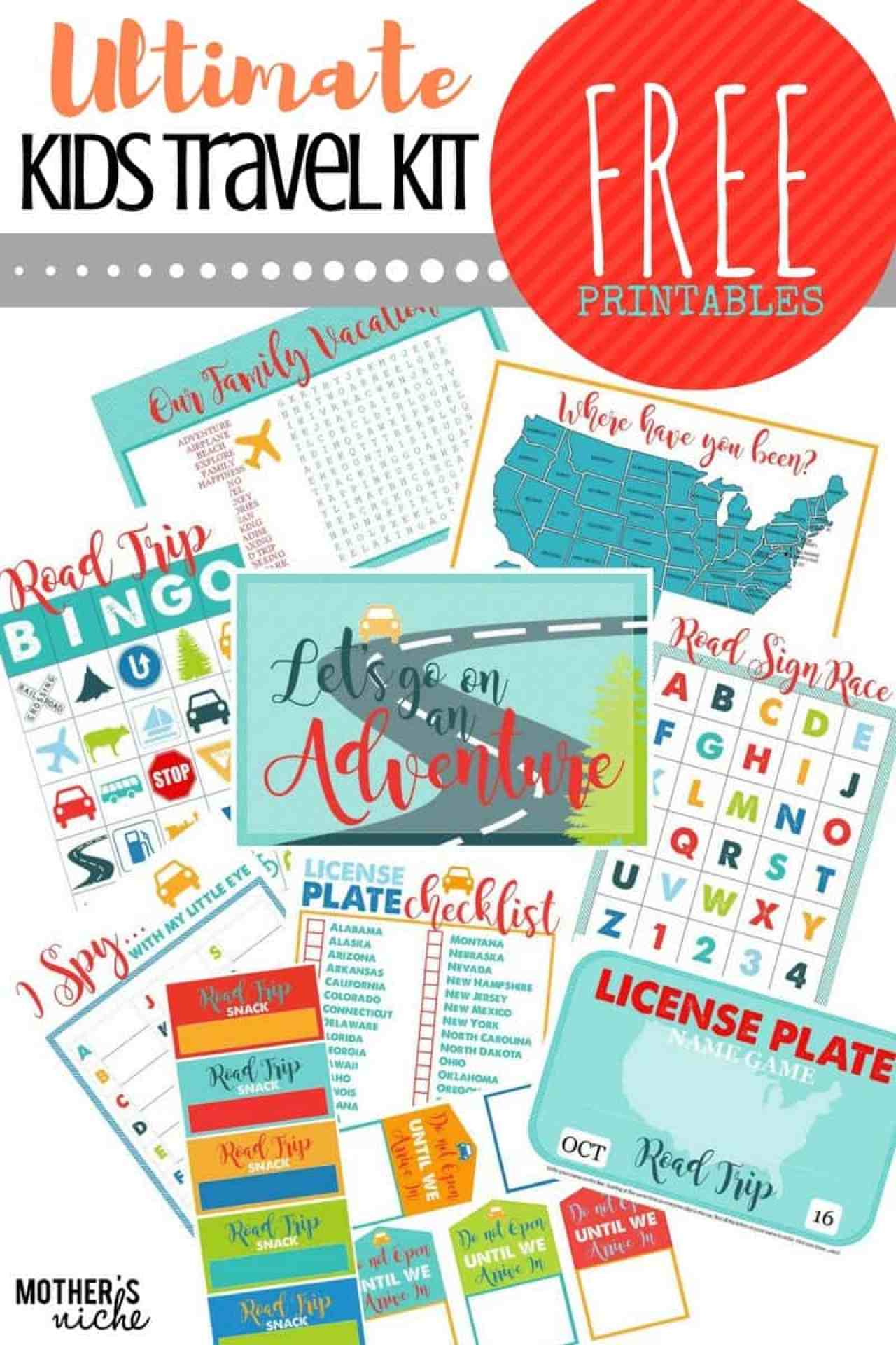 FREE TRAVEL PRINTABLES