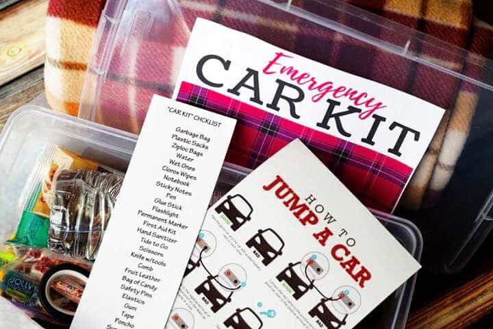 Emergency Car Kit Instructions and Printables
