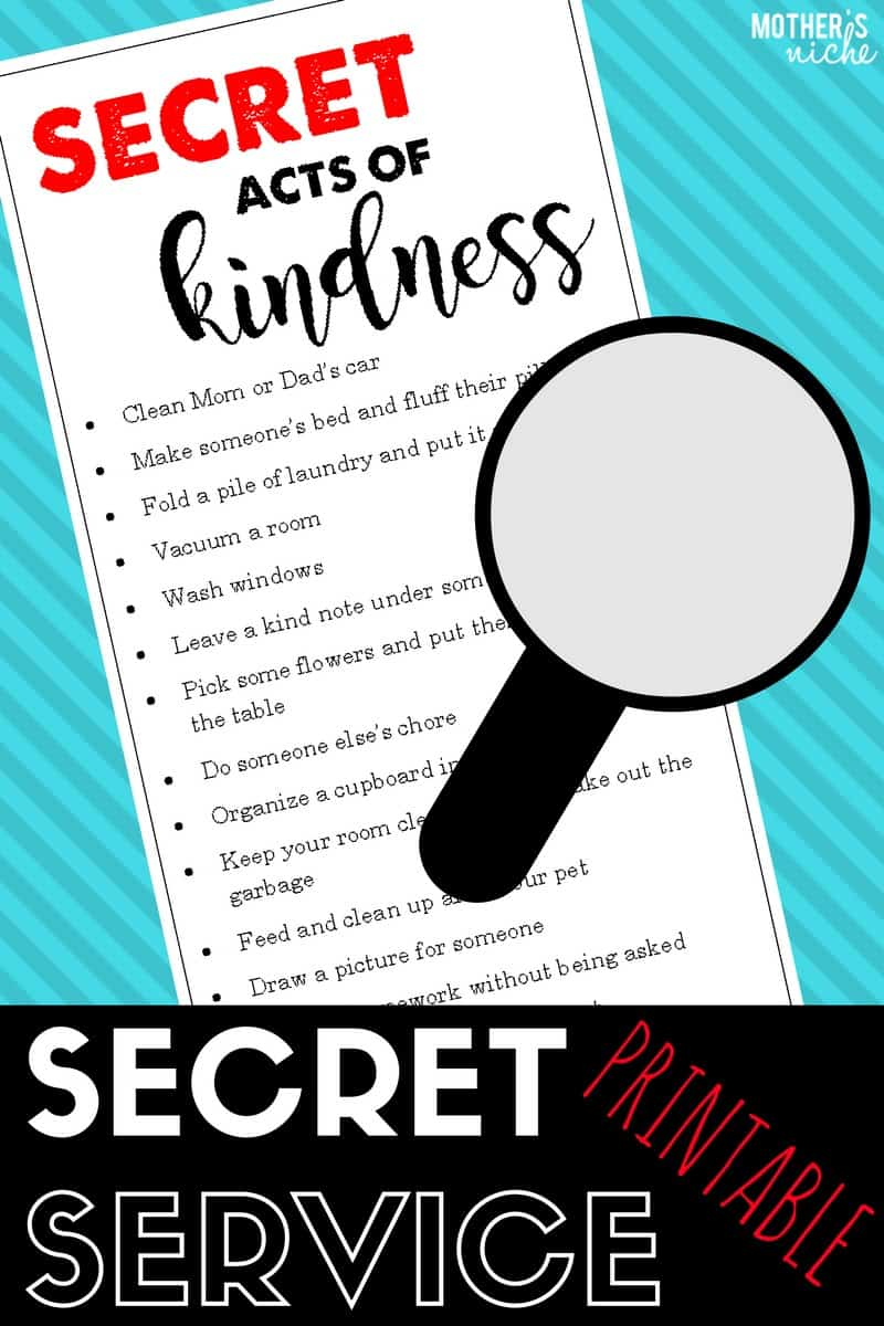 Secret acts of kindness: Wonderful way to get your kids thinking of someone else