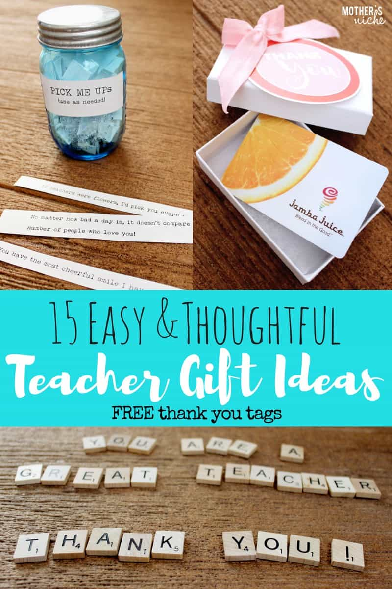 15 teacher gift ideas free printable thank you tags easy and thoughtful teacher gift ideas negle Gallery