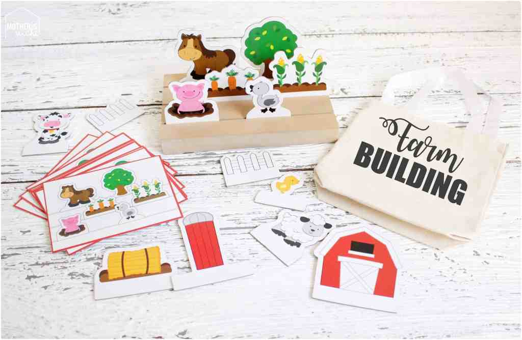 Farm direction game busy bag