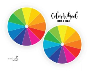 COLOR WHEEL BUSY BAG- plus FREE PRINTABLE!