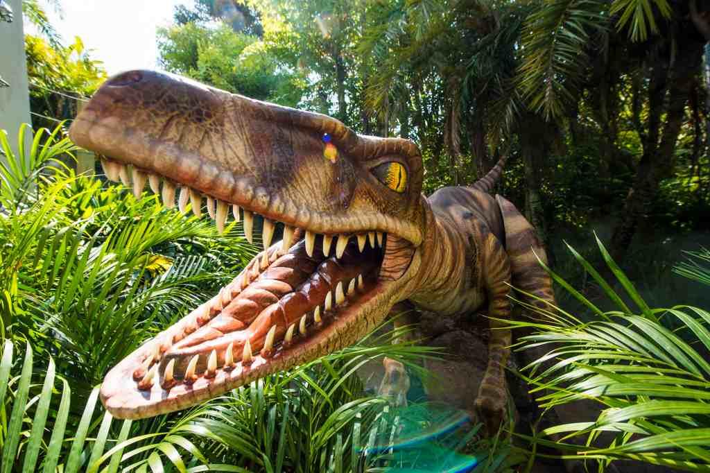 Velociraptors Jurassic Park at Universal Orlando Resort.