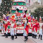 Magical Disneyland at Christmas Time