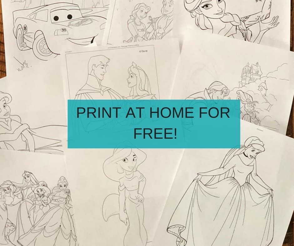 Disney Princess Coloring Pages (Print Disney Coloring Pages FREE)