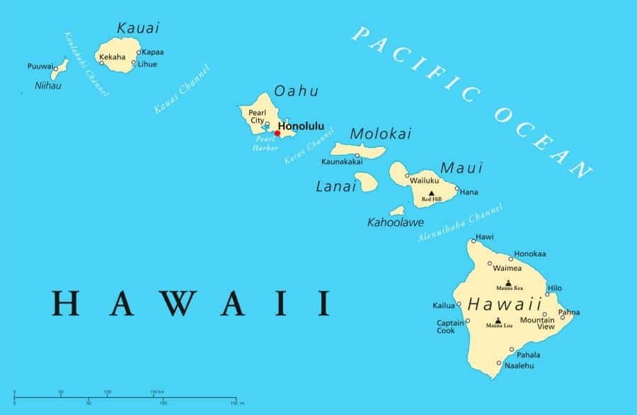 Wondering what's the best Hawaiian Island to visit? Here's a Hawaiian Islands Map and a Comparison of all the Hawaiian Islands.