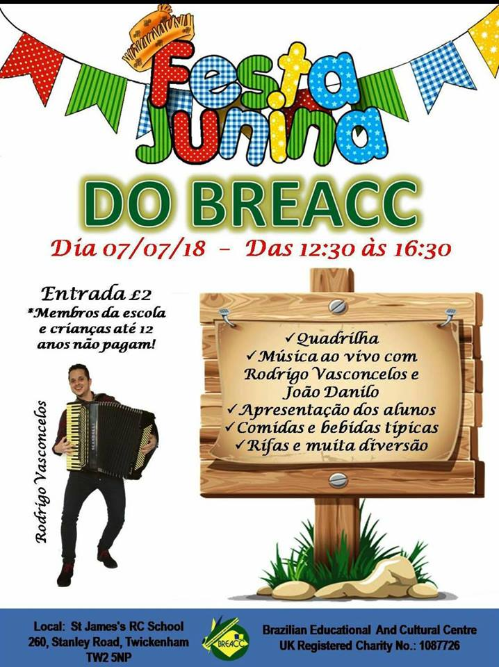 7 june BREACC festa junina londres