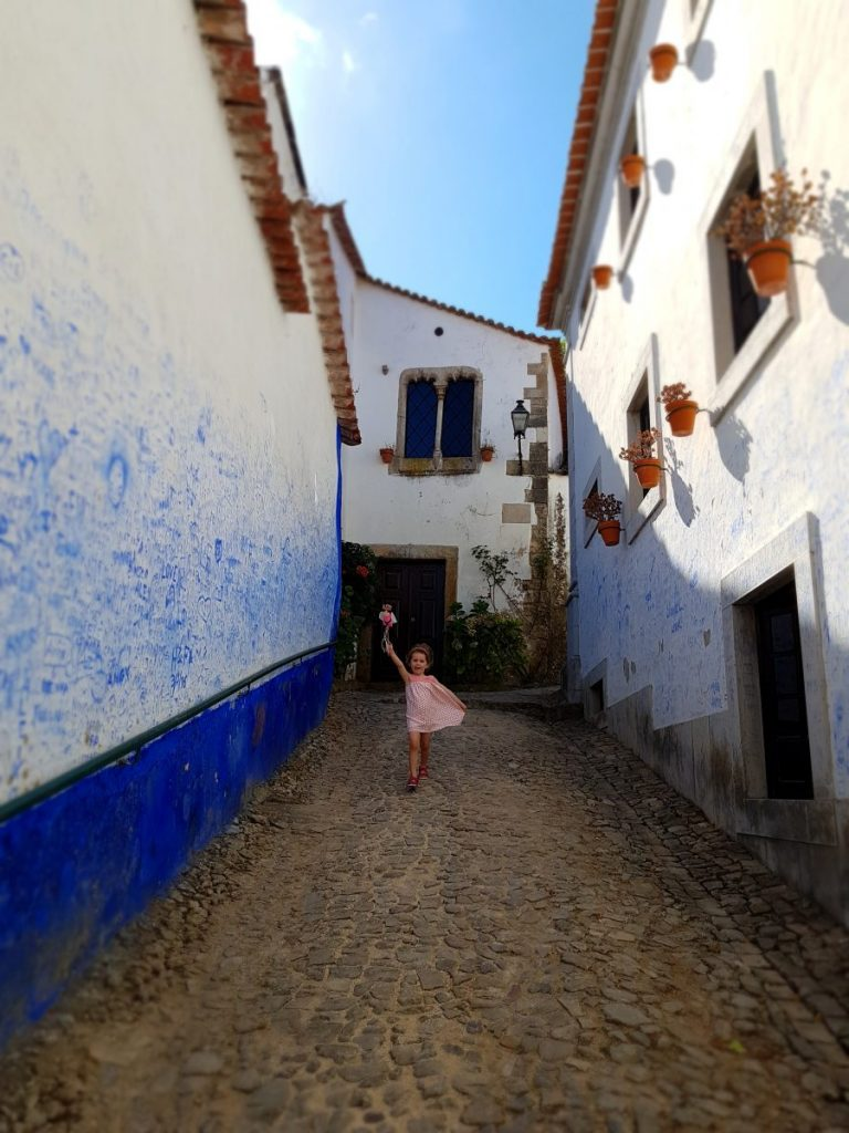 In one of the charming street of Obidos