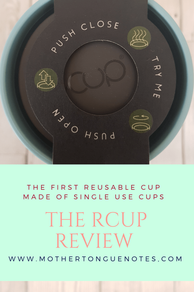 rcup review - reusable cup from recycled cups based on the circular economy