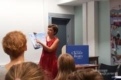 Language Explorers. Book launch at the Chester Beatty Library, 18th Sept 2018.Dr Francesca La Morgia and Blathnaid ni Ghreachain.