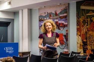 Language Explorers. Book launch at the Chester Beatty Library, 18th Sept 2018. Blathnaid ni Ghreachain.